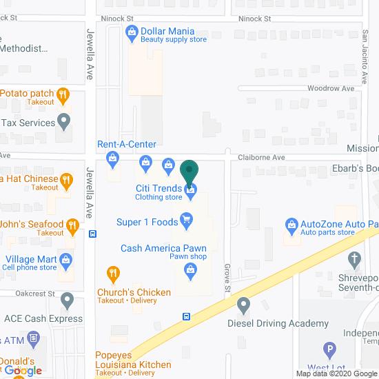 Map of Jewella Ave - Shreveport, LA